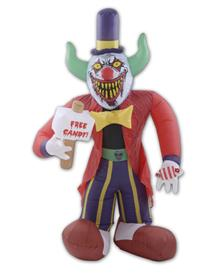 Super scary clown Halloween blowups